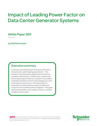 WP 200 - Impact of Leading Power Factor on Data Center Generator Systems