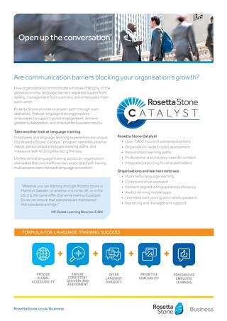 Spark the Confidence to do Business Globally with Rosetta Stone Catalyst