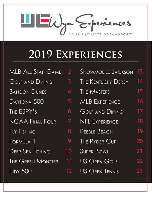2018 Wyn Experiences Offerings
