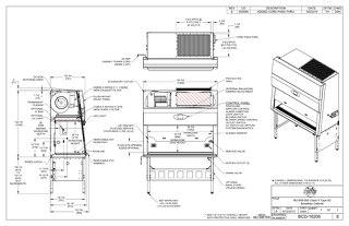 [Drawing] NU-545-500 Class II, Type A2 Biosafety Cabinet