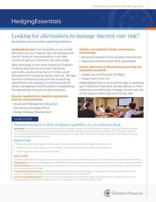Looking for Alternatives to Manage Interest Rate Risk?