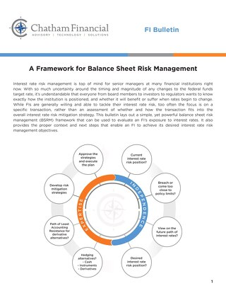 A Framework for Balance Sheet Risk Management