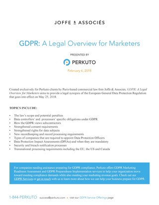 GDPR: A Legal Overview for Marketers