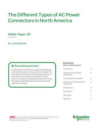 WP 20 - The Different Types of AC Power Connectors in North America