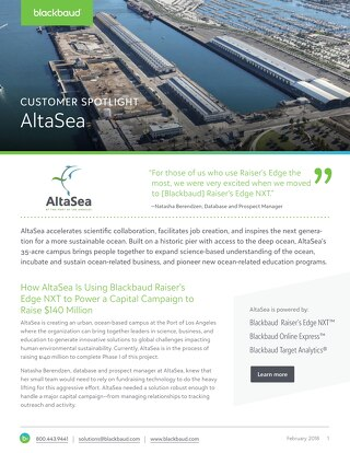 AltaSea Fundraising Success Story