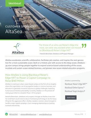 AltaSea Fundraising Success Story