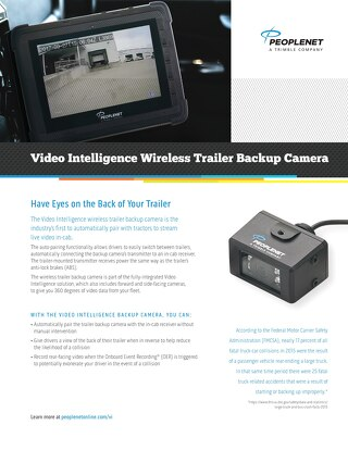 Video Intelligence Wireless Trailer Backup Camera