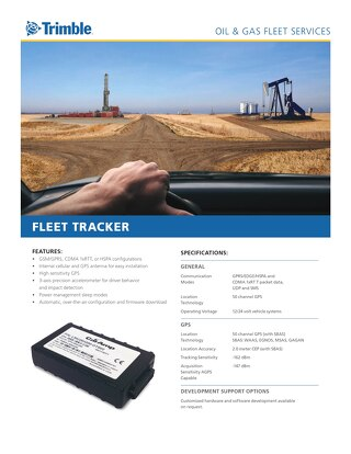 Trimble Oil and Gas Services Fleet Tracker