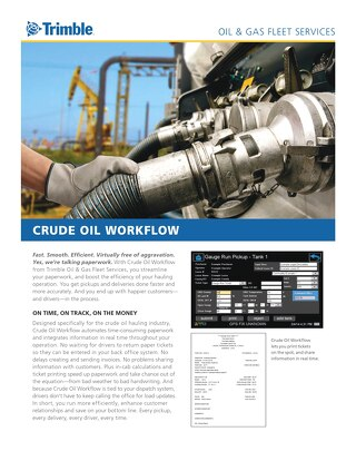 Trimble Oil and Gas Fleet Services Crude Oil Workflow