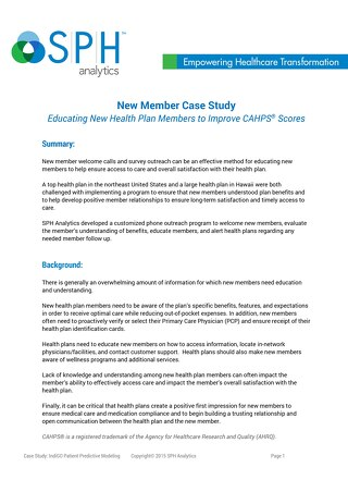 Case Study - New Member Satisfaction