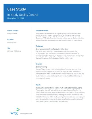 Case Study: In-Study Quality Control