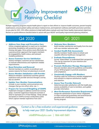 Health Plan Quality Improvement Checklist