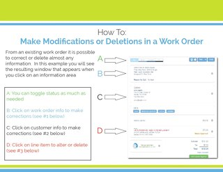 How to - Make Modifications to a Work Order