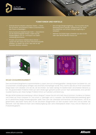 MCAD Collaboration Datasheet