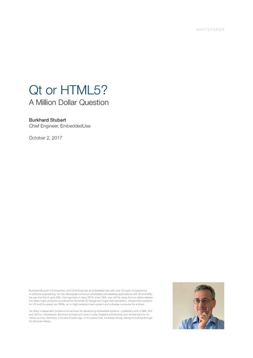 White paper: Qt vs HTML5 #2 Million Dollar Question