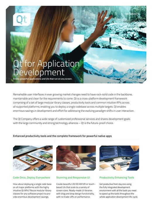 Datasheet: Application Development