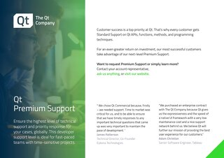 Brochure: Qt Premium Support