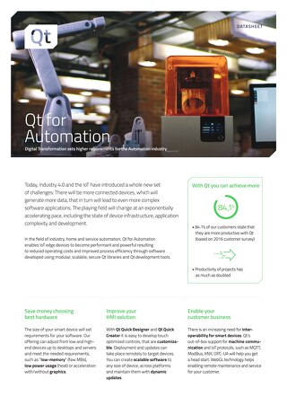 Datasheet: Qt for Automation