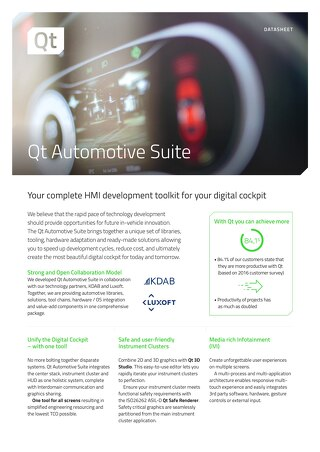 Datasheet: Qt Automotive Suite