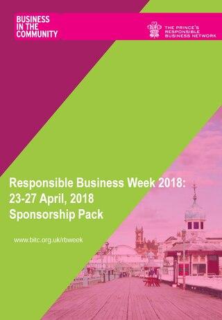 Responsible Business Week 2018 sponsorship pack