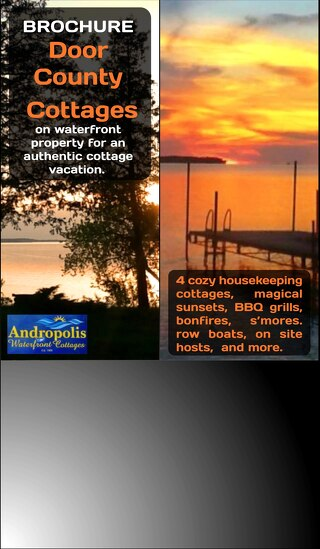Door County Waterfront Cottages 2018 Rack Card