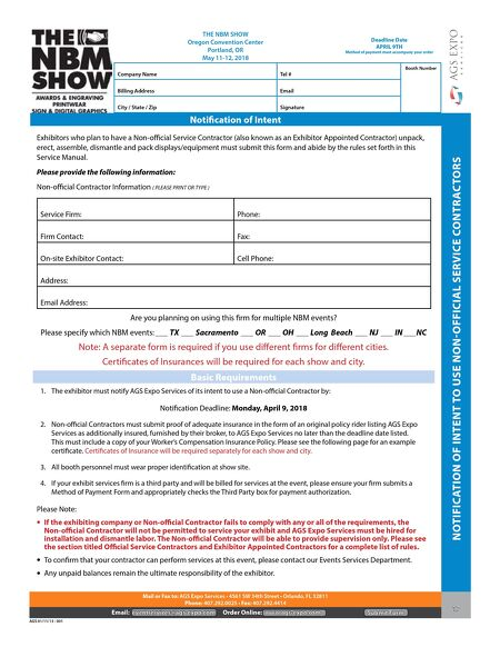 Contracting firm user manuals other hints on caring for array the nbm show portland 2018 rh read uberflip com fandeluxe Images
