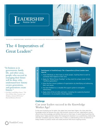 The 4 Imperatives of Great Leaders™