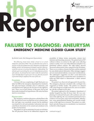 Reporter 2004 Emergency Medicine