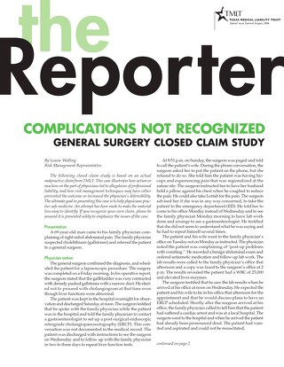 Reporter 2006 General Surgery