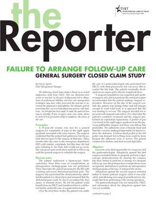 Reporter 2007 General Surgery