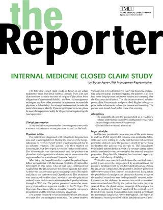 Reporter 2001 Internal Medicine