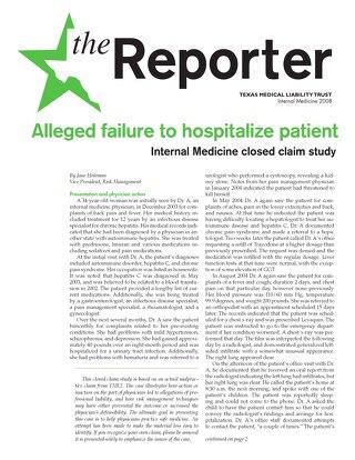 Reporter 2008 Internal Medicine
