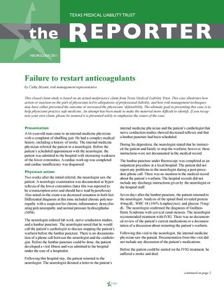 Reporter 2011 Neurology