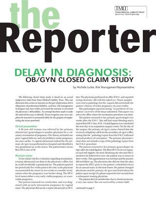 Reporter 2002 Obstetrics-Gynecology