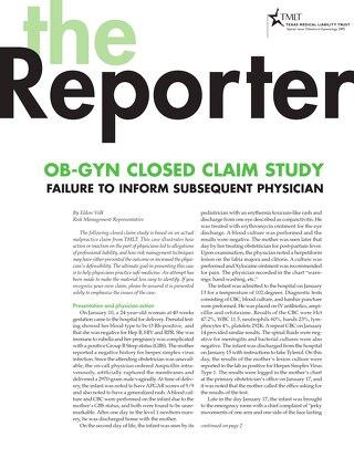 Reporter 2005 Obstetrics-Gynecology