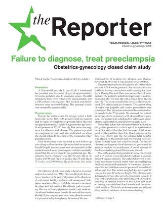 Reporter 2008 Obstetrics-Gynecology