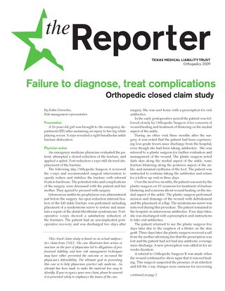 Reporter 2009 Orthopedics
