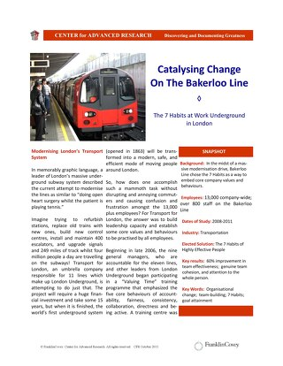 Catalysing Change On The Bakerloo Line