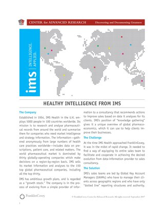 Healthy intelligence from IMS
