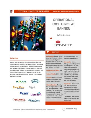 Operational Excellence at Banner