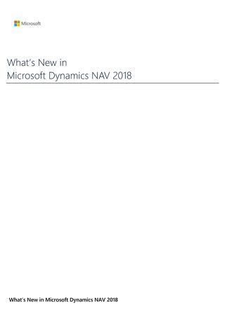What's New Dynamics NAV 2018 Brochure
