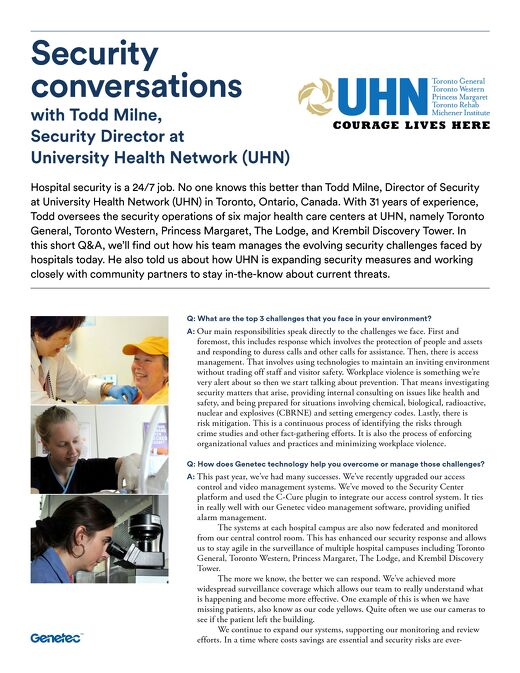 Security Conversations - Todd Milne from UHN