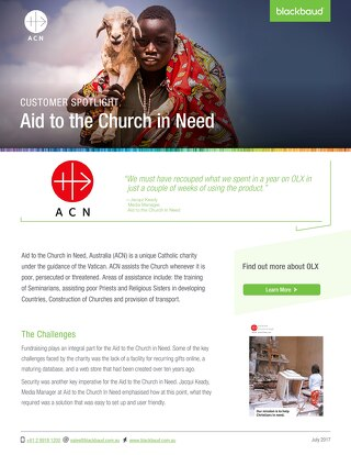 Aid to the Church in Need & NXT