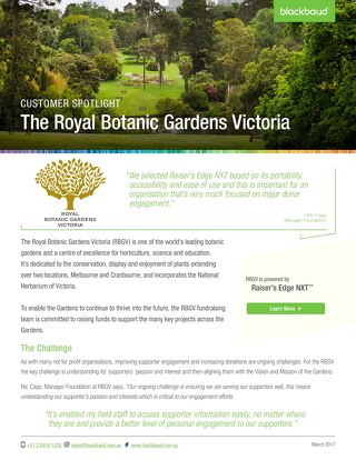 The Royal Botanic Gardens Victoria & NXT