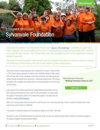 Sylvanvale Foundation + eTapestry