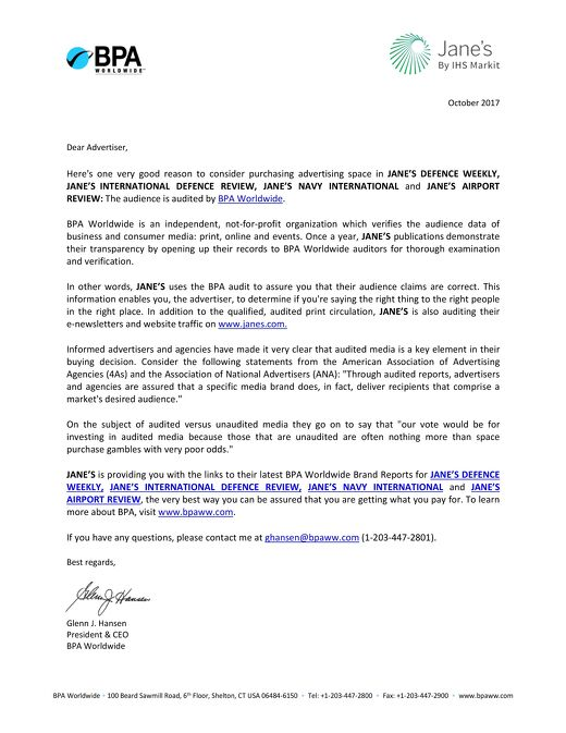 BPA Endorsement Letter