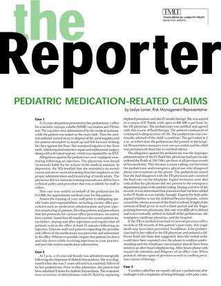 Reporter 2001 Pediatrics