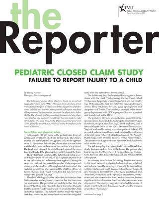 Reporter 2005 Pediatrics
