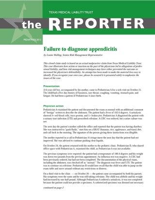 Reporter 2013 Pediatrics
