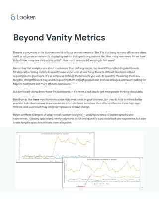 Beyond Vanity Metrics